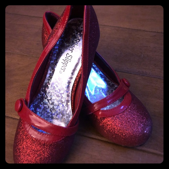 8f49ba524 Silver Slipper Shoes | Dorothy Ruby Slippers Pumps Sz 1 | Poshmark